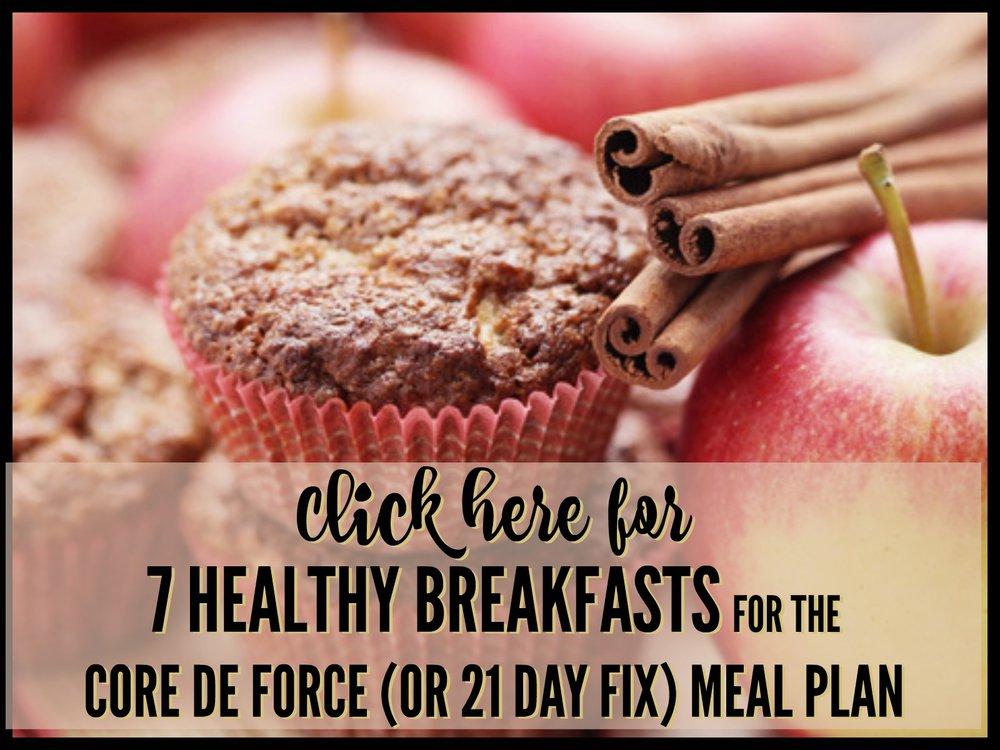 core de force recipes | 21 day fix recipes