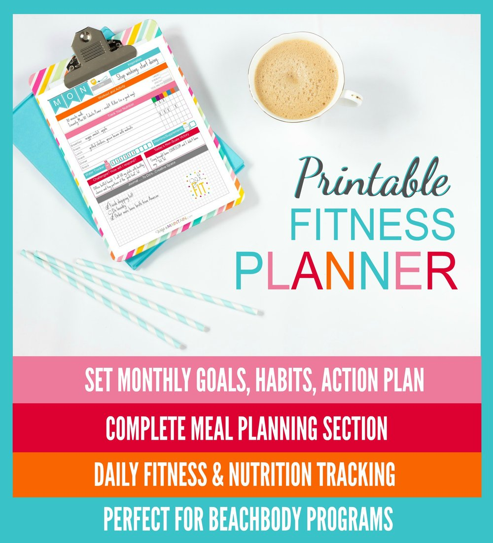 pritnable fitness planner