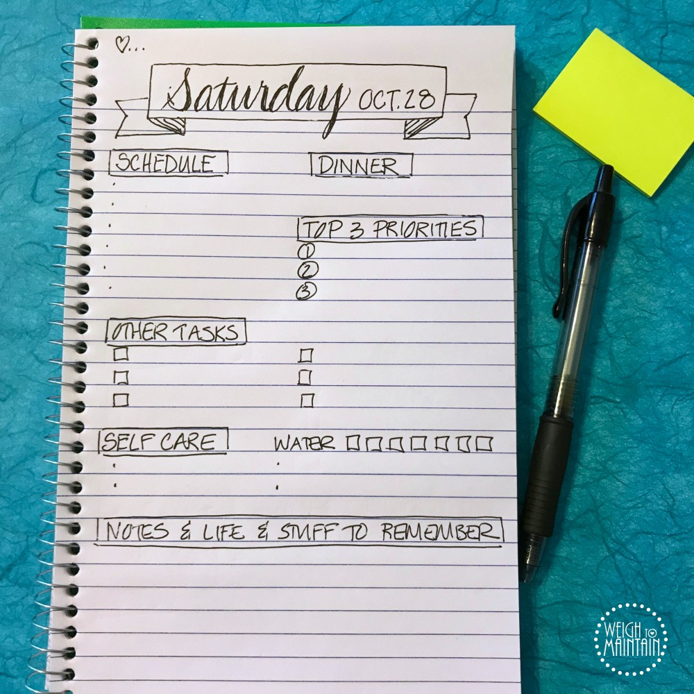 planning a productive day