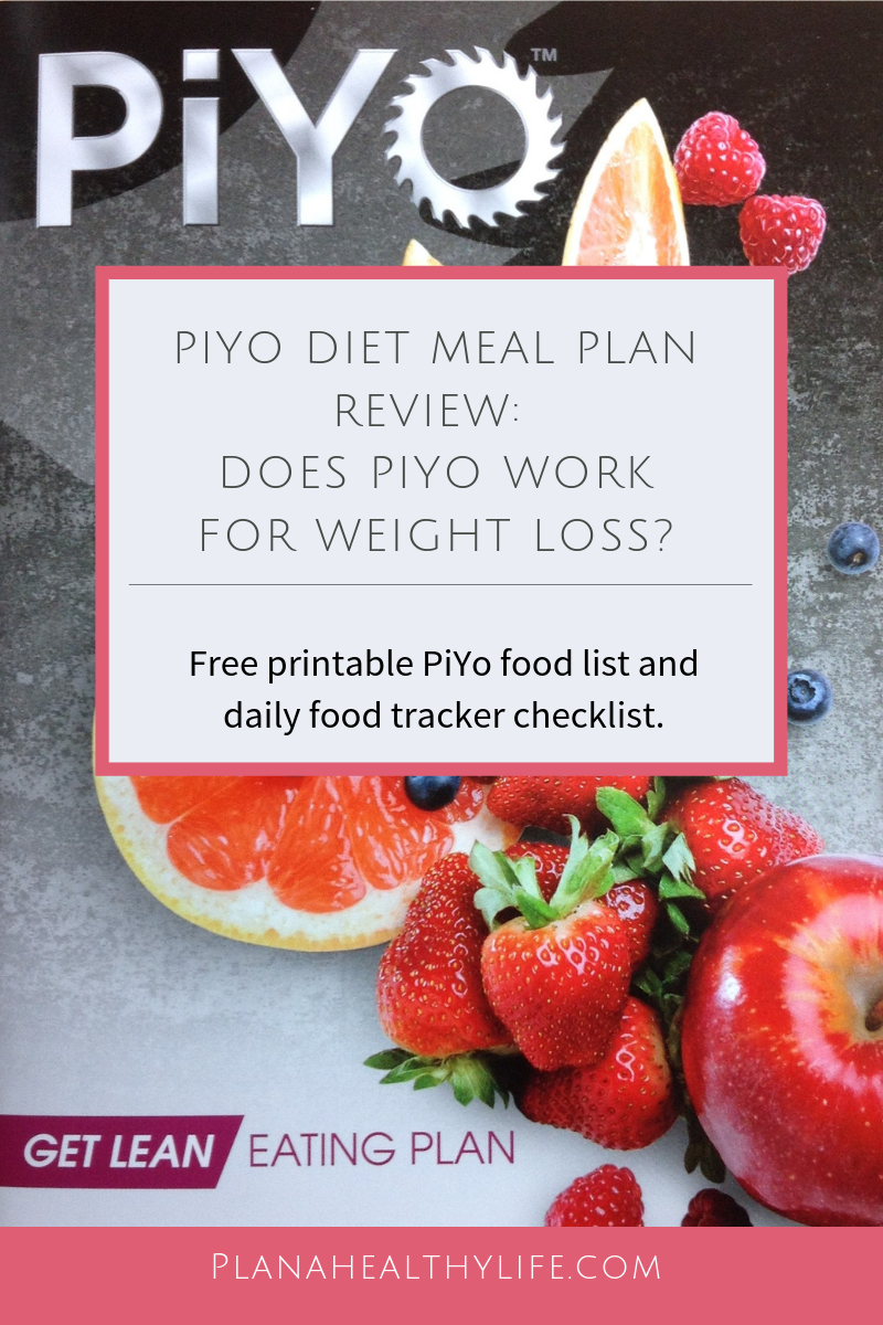 Review of the Piyo Meal Plan with free printable food list and daily tracker. Plan a Healthy Life