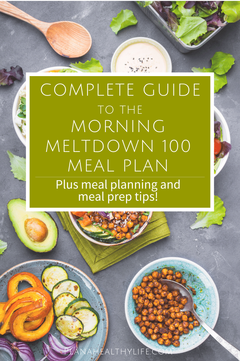 Complete Guide to the Morning Meltdown 100 Meal Plan — PLAN