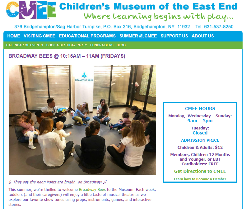 CHILDREN'S MUSEUM OF EAST END