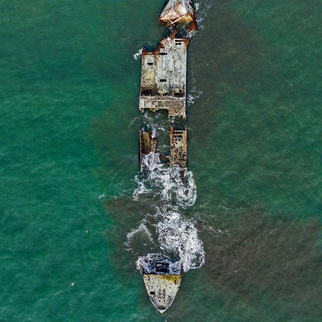 Father Time taking his Tull #shipwreck #buriedtreasure #aptos #santacruz
