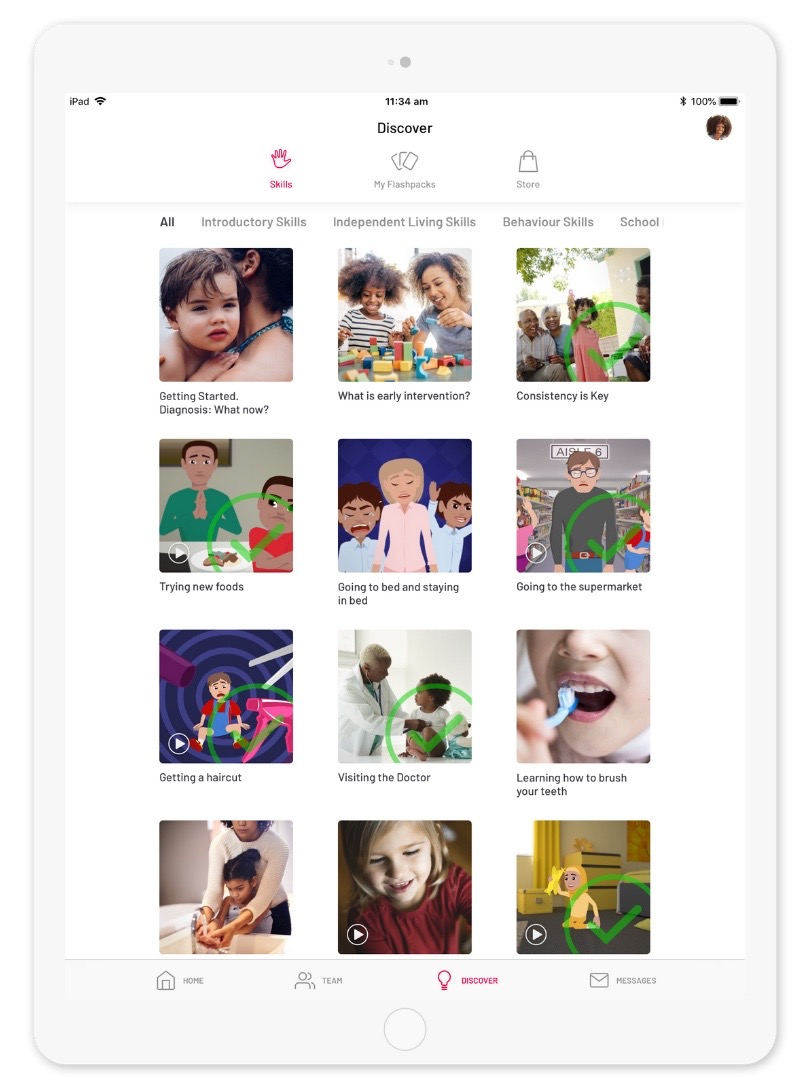 Parent Edition Skills home page under Discover.