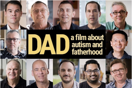 Autism Awareness Australia, banner of the Dad film - a film about autism and fatherhood.