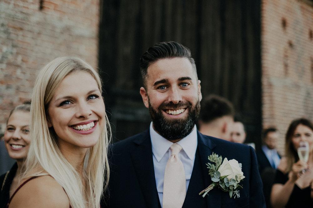 Wedding Guests a Norfolk Barn Wedding