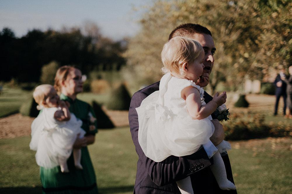 Twin Bridemaids at Norwich Barn Wedding