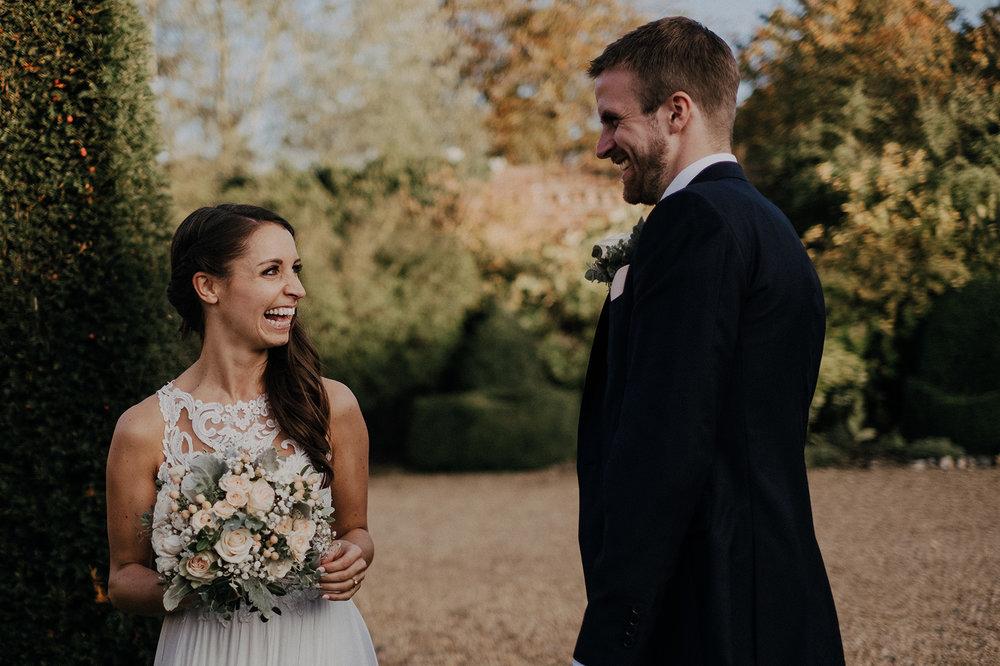 Natural wedding photography at Norfolk barn