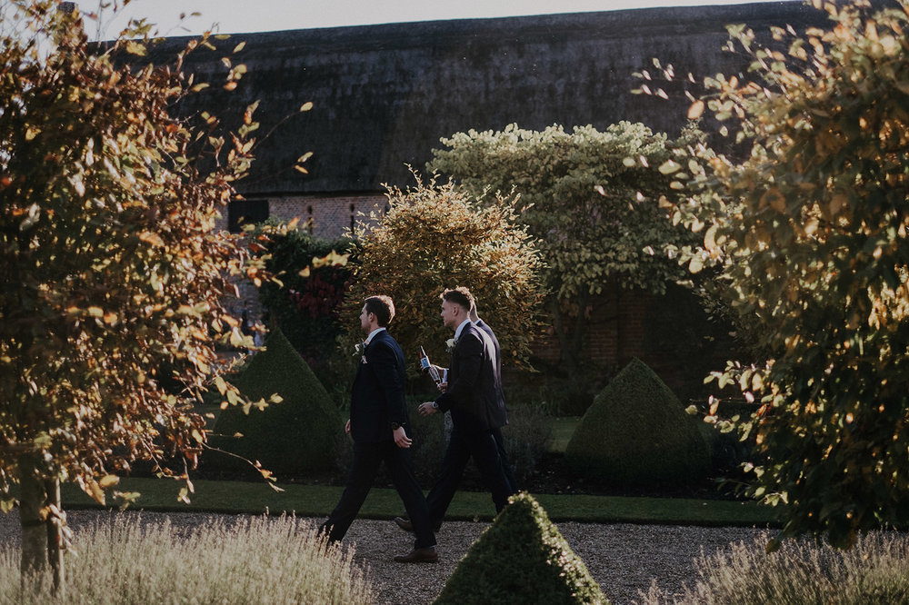 Groomsmen at Hales Hall in Norwich