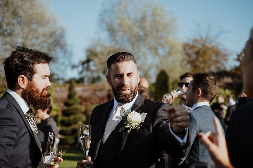 Wedding Guests at Norwich Barn Wedding