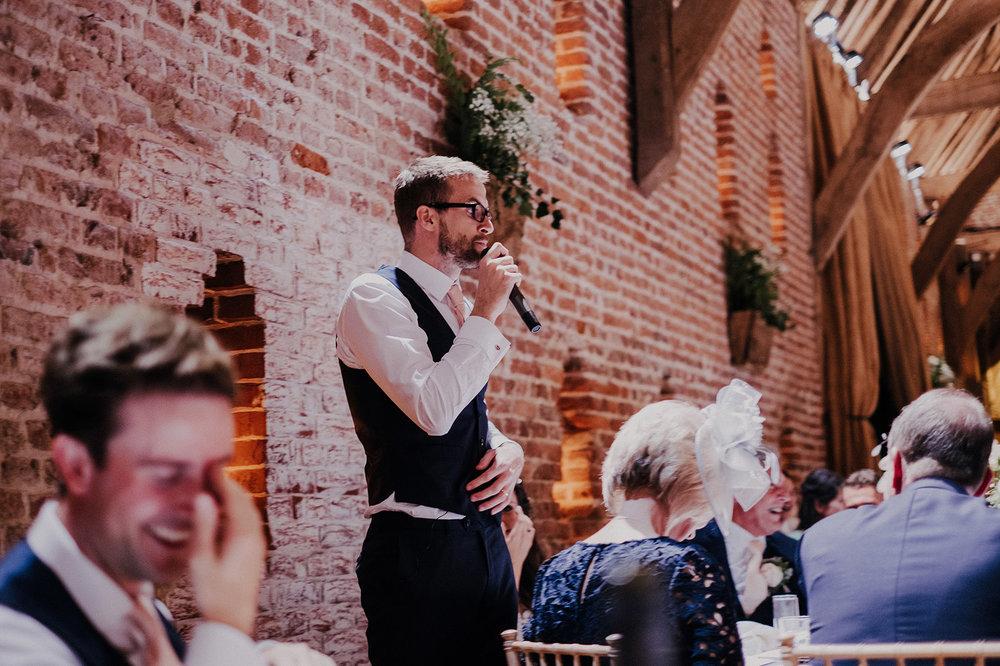 Grooms speech at Norfolk wedding