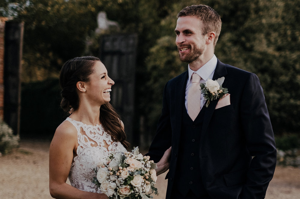 Hales Hall and The Great Barn wedding portrait
