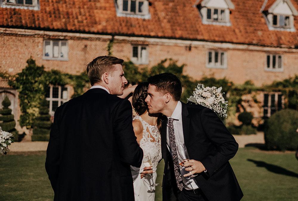 Guest at Norwich Barn Wedding