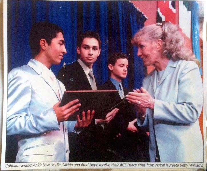 Ankit Love awared ACS International Peace Prize by Nobel Laurette Betty Williams.jpeg