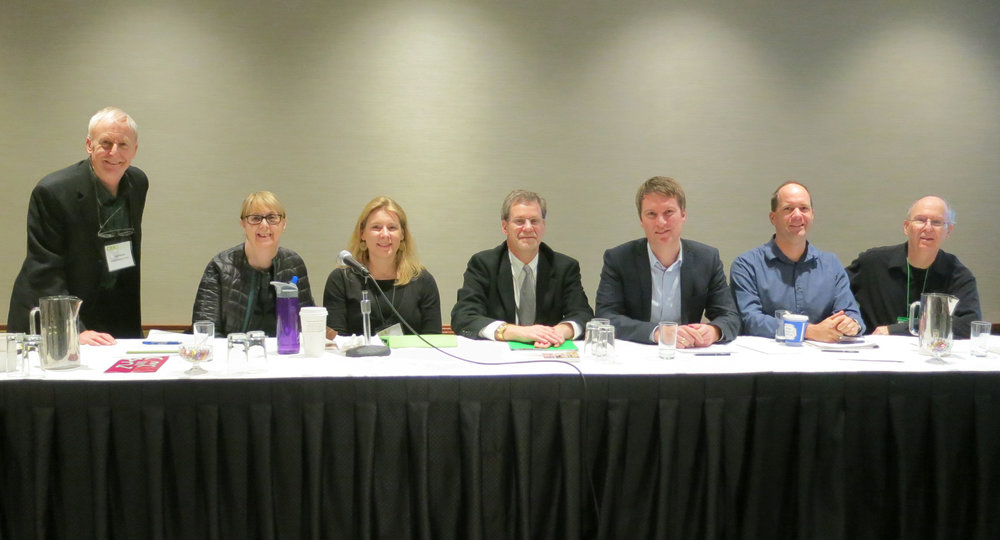 Panel 'The Global History of Design and Material Culture,' at the College Art Association annual conference in New York, 11-14 February 2015. Left to right: Paul Stirton, Pat Kirkham, Grace Lees-Maffei, David Raizman, Kjetil Fallan, Daniel Huppatz, Victor Margolin.