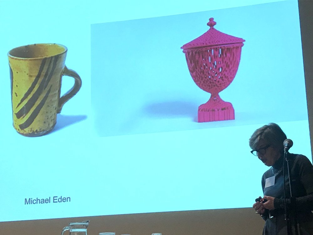 - Rosy Greenlees OBE showing the work of Michael Eden, from ceramics to 3D printing