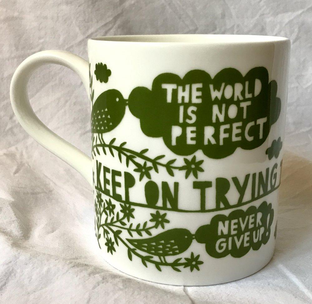 - Rob Ryan mug, 'The World is Not Perfect' (2018)