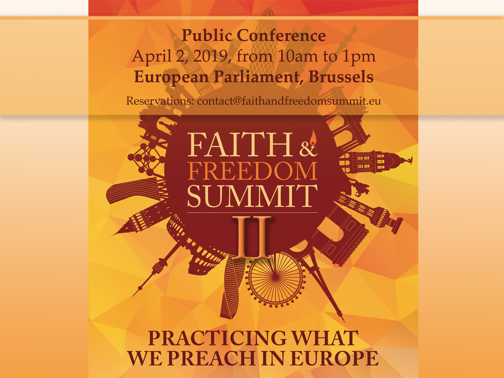 RSVP! - Faith and Freedom Summit II - Program hereLimited seats: Registration here