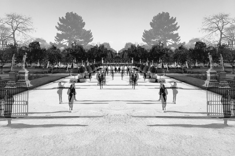 Jardin des Tuileries,   Paris, 2018  Gelatin silver print  343 x 480mm (image)  380 x 500mm (sheet)  580 x 700mm (frame)  Edition: 5 + 2 AP's  Signed, dated and numbered in bottom right hand margin; artist's stamp on verso  © Alastair Whitton