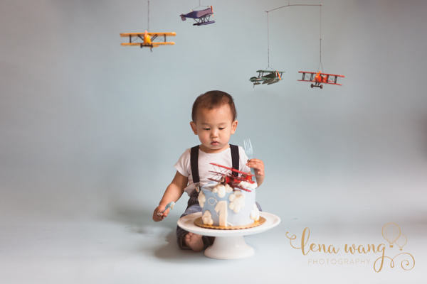 Palo Alto San Francisco Bay Area Baby 1 Year Portrait Cake Smash Photography Los Gatos Lena Wang Photography (4)