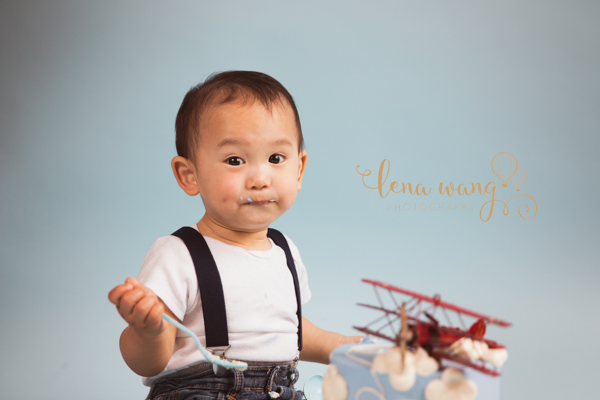 Palo Alto San Francisco Bay Area Baby 1 Year Portrait Cake Smash Photography Los Gatos Lena Wang Photography (5)