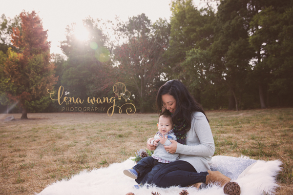 Palo Alto San Francisco Bay Area Baby 6 Month Boy Outdoor Portrait Session Los Gatos Lena Wang Photography (2)