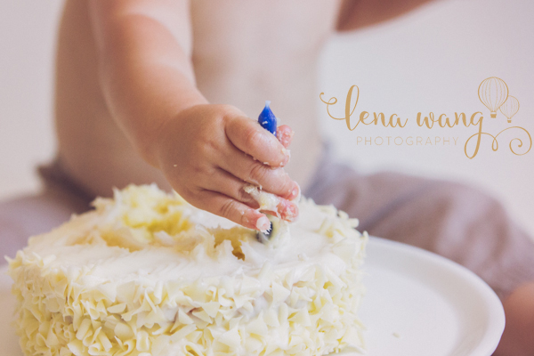Los Gatos Redwood City Palo Alto Baby One Year Cake Smash Portrait Photography