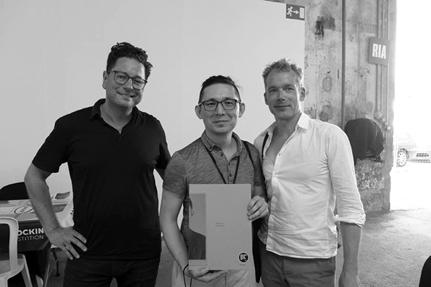 With my book's designers Jeroen Kummer and Arthur Herrman of Kummer&Herrman