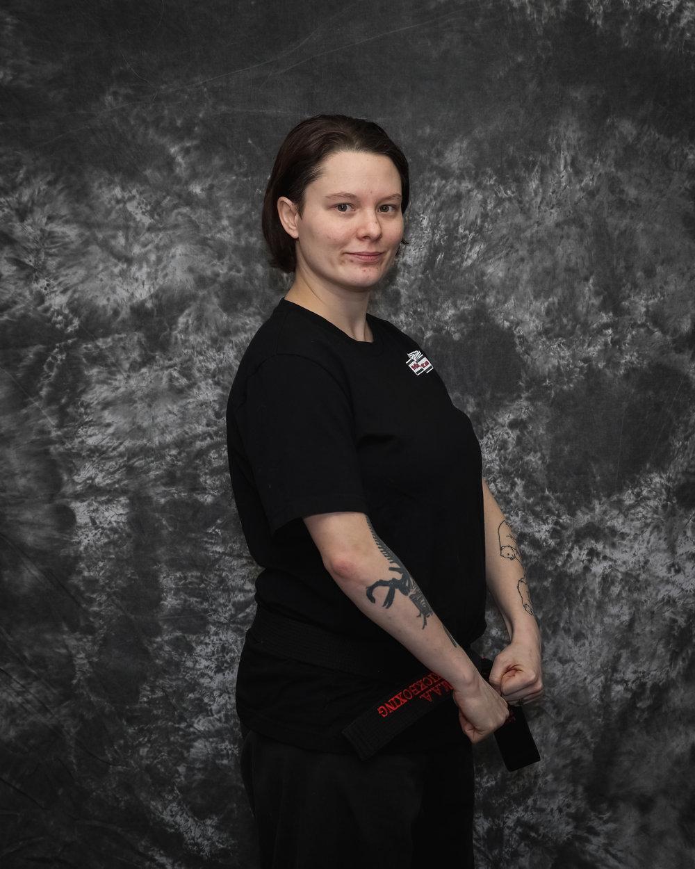 MISS JAMIE REMLEY   1ST DAN BLACK BELT KICKBOXING
