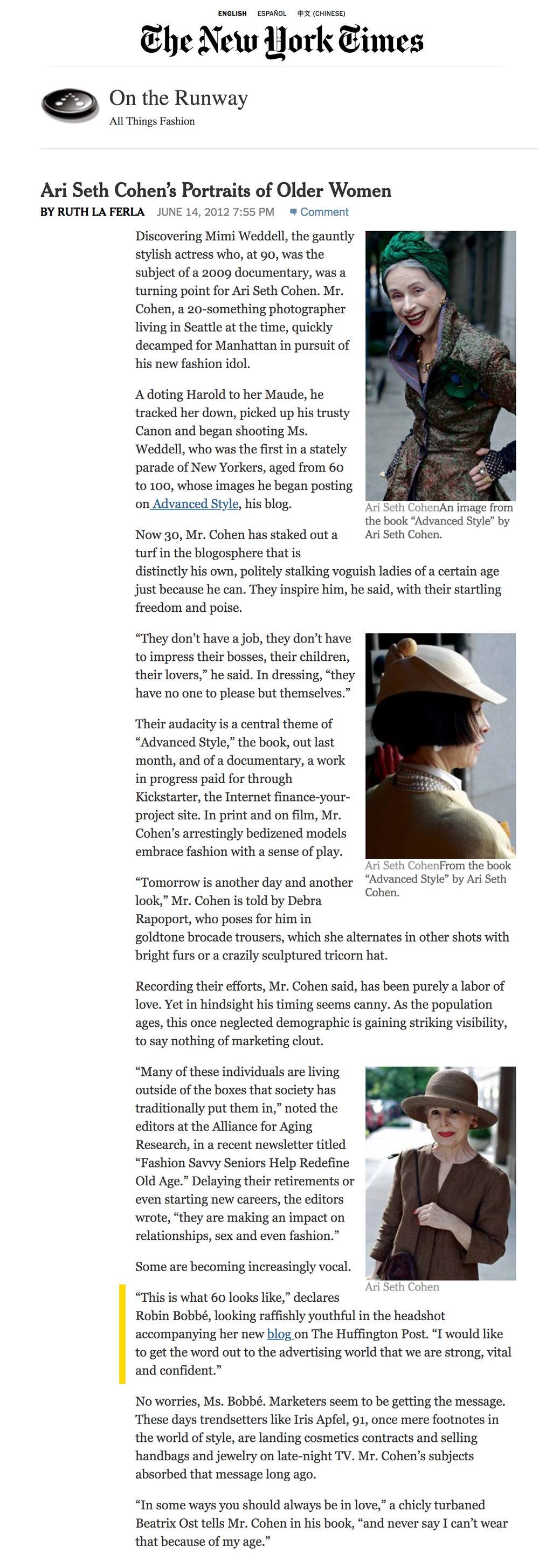Robin Bobbe in NYTimes