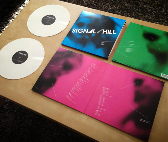 LP package featuring white records