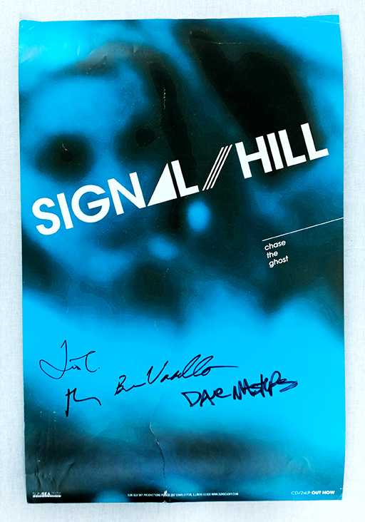 Record release poster, signed by band