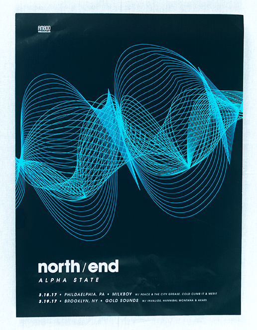 North End, Alpha State tour poster