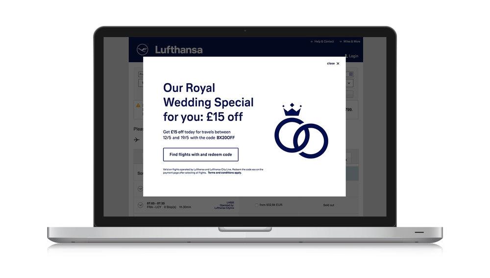 Royal Wedding promo echo overlay for desktop