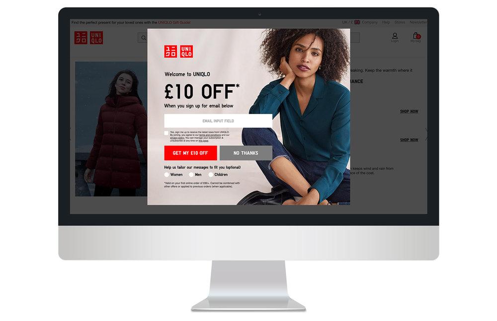 Entrance female overlay on desktop