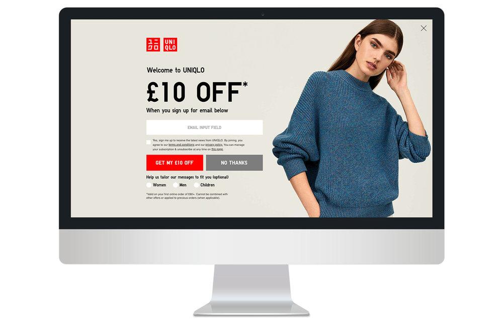 Full screen canvas female entrance overlay on desktop