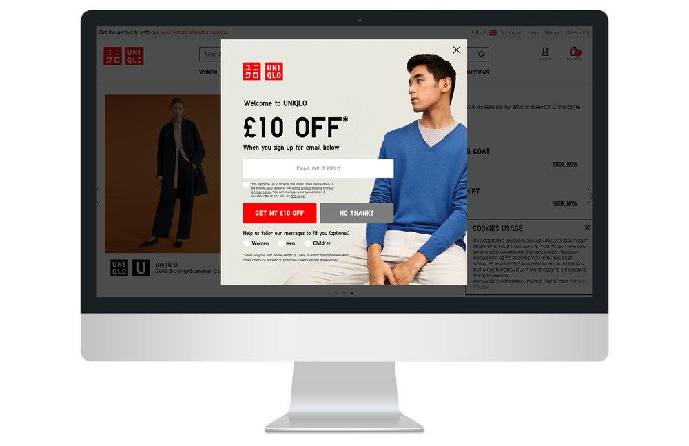 Entrance male overlay on desktop