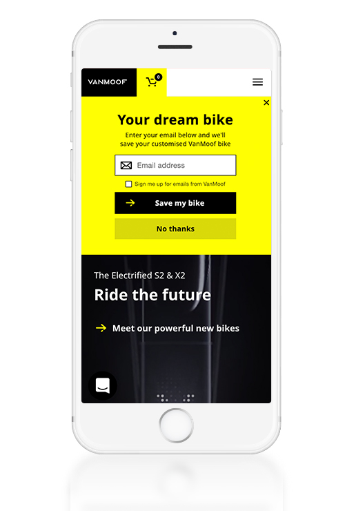 Native inline zone email capture for mobile (UK site)