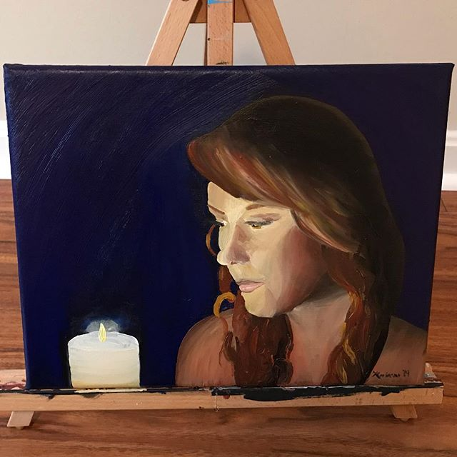 Spent my snow day trying out oil painting for the first time. 6 hours start to finish.