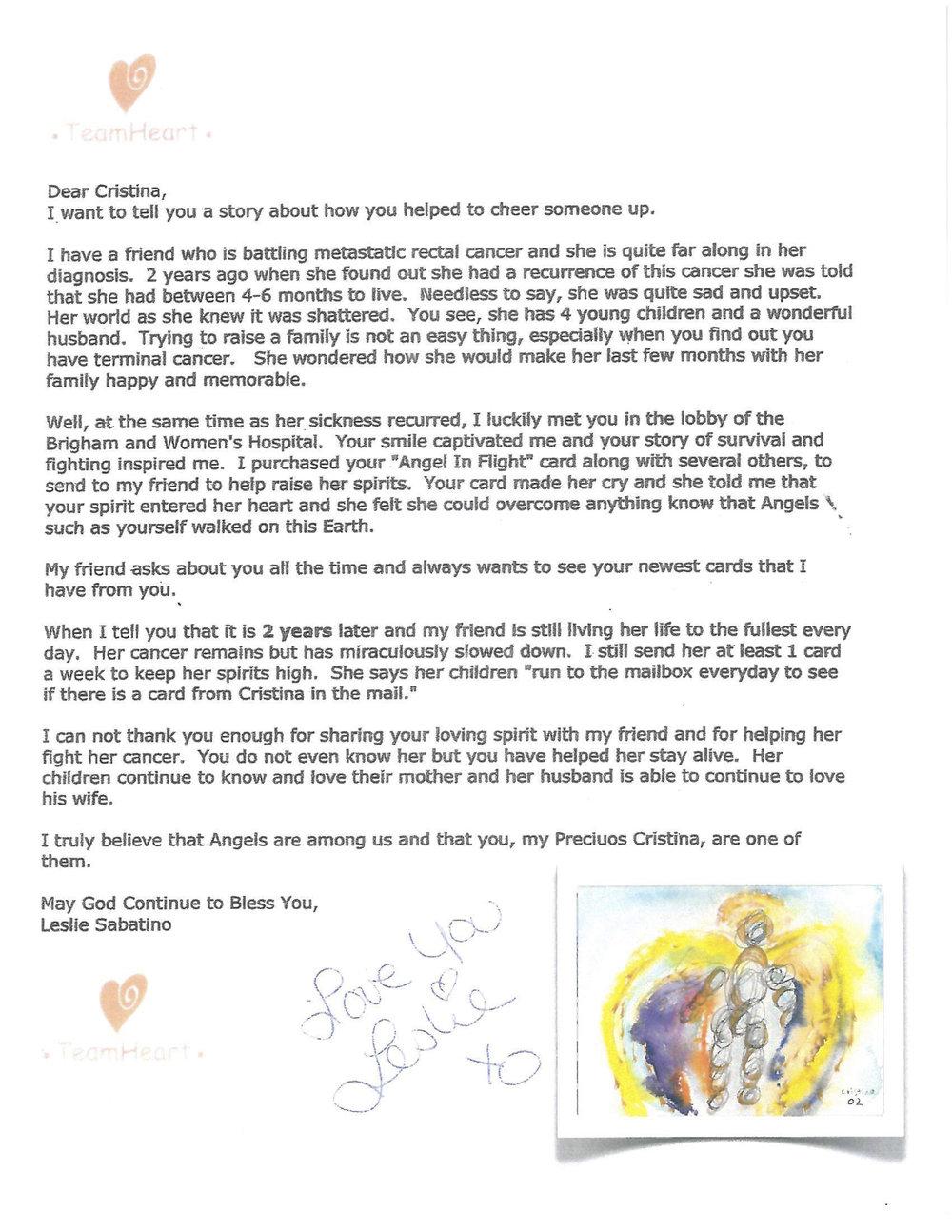 TeamHeart Letter