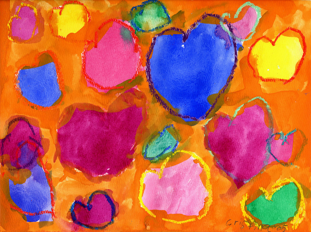 The ' Sweet' Hearts (orange)