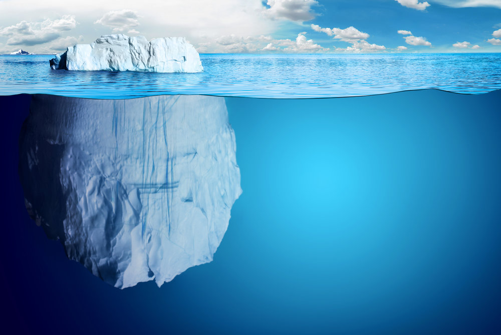 Like an iceberg, good financial planning is hidden and unseen by most but is an essential base.