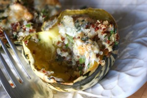 Stuffed sweet dumpling squash