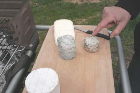 Cheese plate at Domaine de Colette, Beaujolais