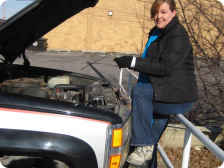 Seana Doughty's craigslist truck, oil-change in Wisconsin.