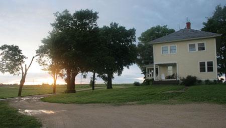 Uplands farmhouse, Dodgeville Wisconsin
