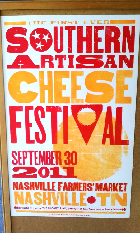 Southern Artisan Cheese Festival letterpress poster