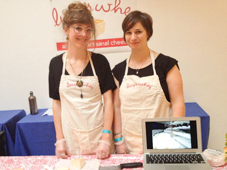The fabulous Lucy's Whey girls at Good Dairy, Grace and Amy