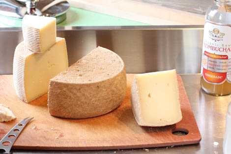 Cheese... and kombucha.