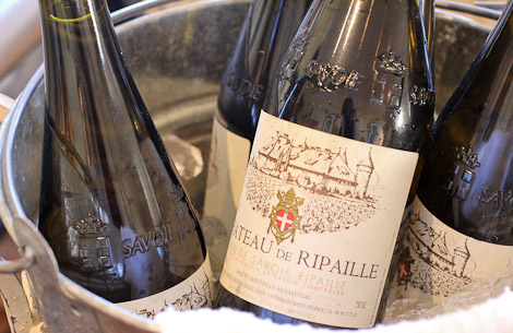 Chateau de Ripaille, from the Savoie, perfect with goat cheese.